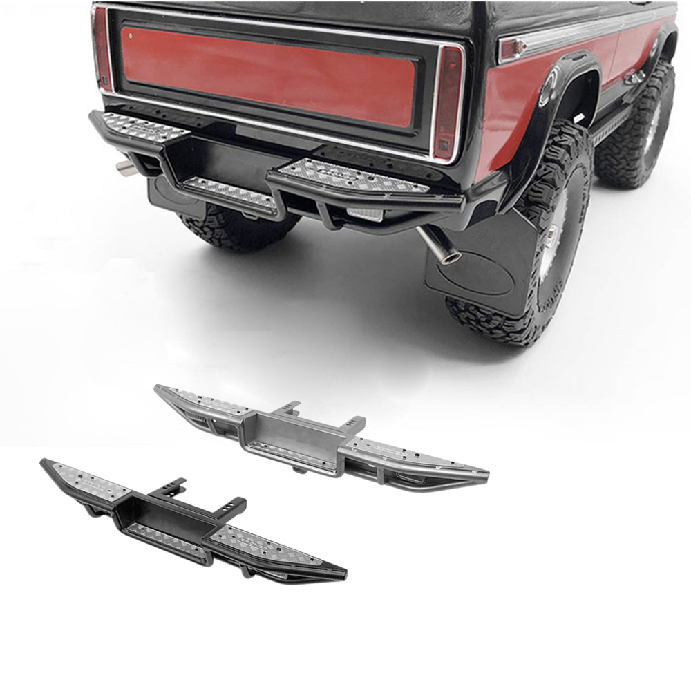 For TRAXXAS TRX-4 1/10 RC Car Metal Rear Bumper for TRX-4 FORD BRONCO 'Ranch' Ranger Defender All Metal Stainless Steel hpi king 1973 ford bronco