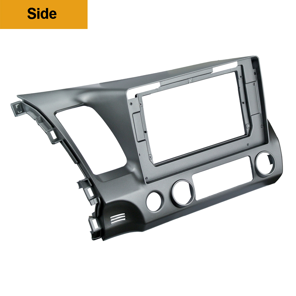 Image 3 - 2Din Car DVD Frame Audio Fitting Adaptor Dash Trim Kits Facia Panel 10.1inch For Honda Civic Left2007 11 Double Din Radio Player-in Fascias from Automobiles & Motorcycles