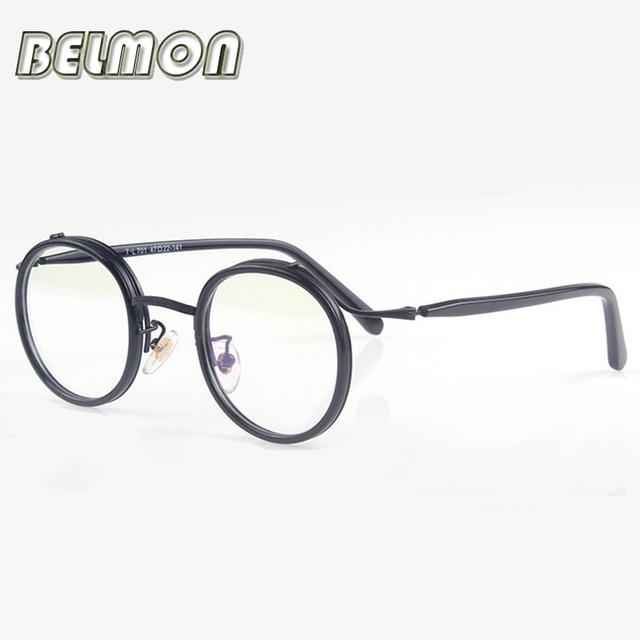 Rodada Do Vintage Óculos de Armação Mulheres Homens Lerdo Computador Vidros Ópticos Armação de óculos Para As Mulheres das Mulheres Masculino Armação de RS211
