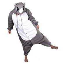 Free Shipping 2017 New Unisex Men Women Adult Funny Rhinoceros Pajamas Cosplay Costume Animal Onesies Rhino