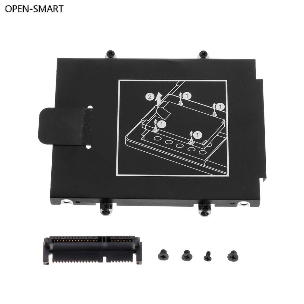 OPEN-SMART HDD Caddy Braketi Sabit Disk Kapağı Adaptörü SSD Konektörü Dizüstü Aksesuar Vidası HP 9470M 9480M
