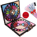 Buy 1 get 5 Professional Fabulous 88 Colors Make Up Kit  Eyeshadow Blush Lipgloss Comb Leopard MakeUp Palette For Gift 2016 New