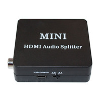HDMI Audio Splitter With Spdif Coaxial Earphone Output Support HDMI 1 4 Extractor Converter For DVD
