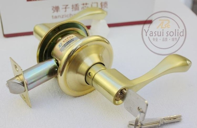 Privacy Brush Gold Lever Handle Door Lock lockset privacy policy