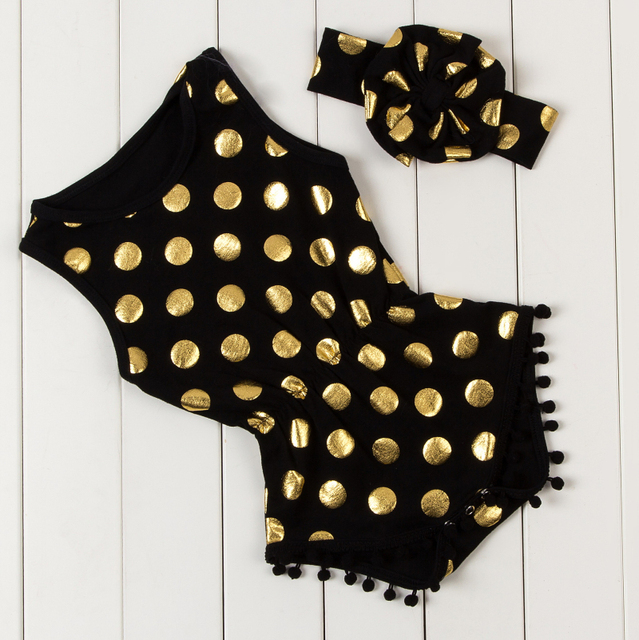 bd6df25d22f7 gold polka dot romper headband