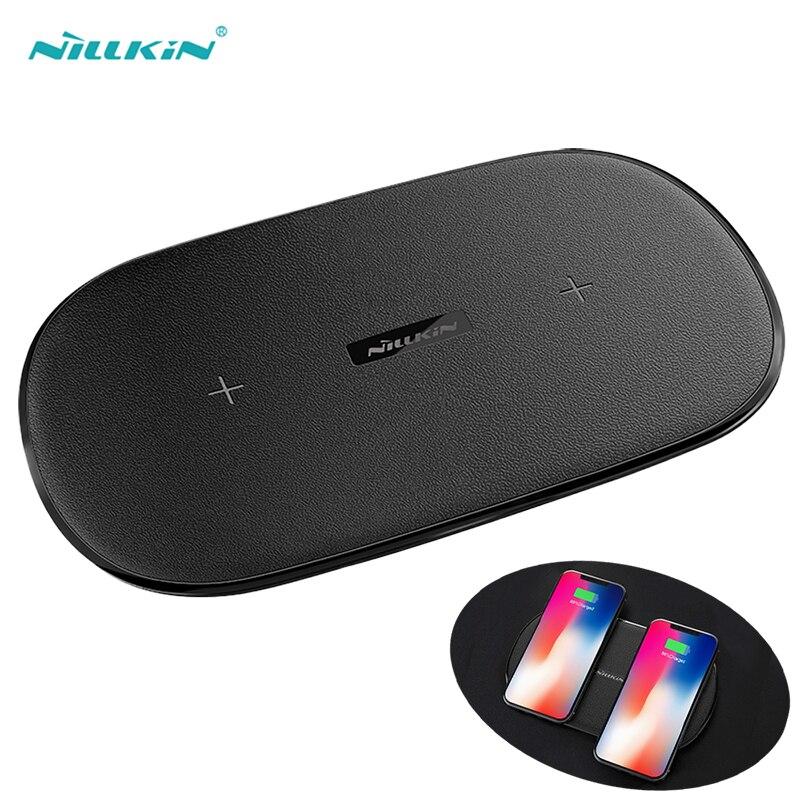 NILLKIN двойной Qi Беспроводной Зарядное устройство для samsung Galaxy S9 S8 плюс Примечание 8
