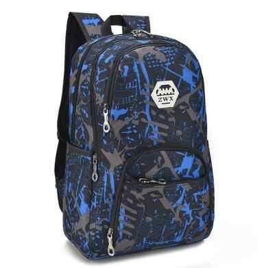 542ad206d894d ... 3 pcs USB Erkek sırt çantası çanta seti için kırmızı ve mavi yüksek  okul çantası erkek ...