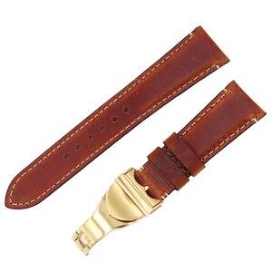 Image 2 - Rolamy Correa de reloj de cuero auténtico para Tudor Seiko Omega, repuesto duradero de 20mm y 22mm