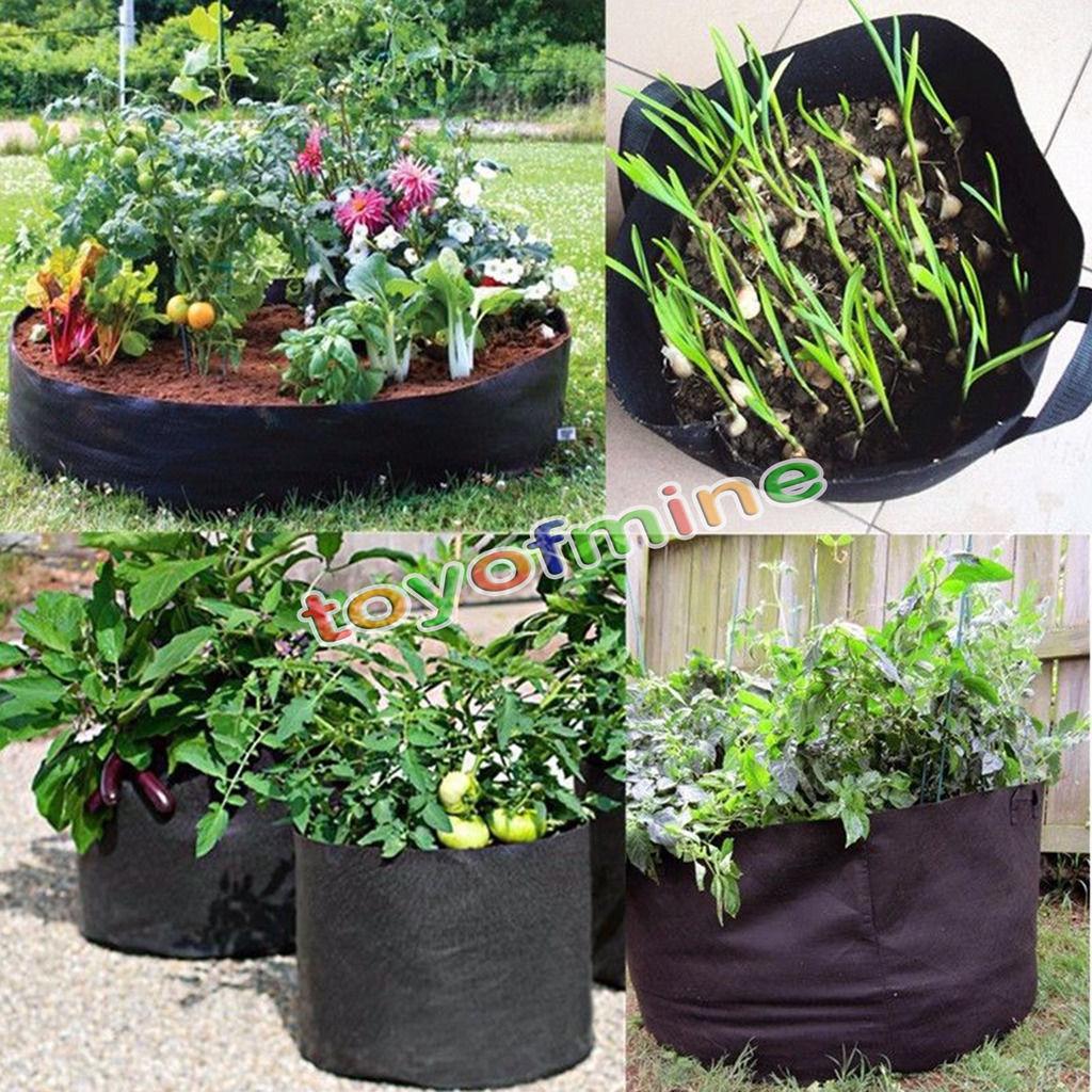 Black Fabric Pots Round Aeration Pot Container Grow Bag