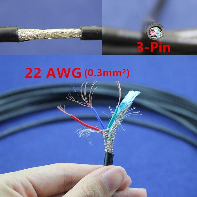 1 meter Kupfer Elektrischen Draht 3 Pin 22 AWG anti interferenz ...