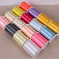 870 Yards/ Roll 3mm Width Stain Ribbon Wedding Party Home Decoration Gift Wrapping Christmas New Year Bow DIY Material Supplies