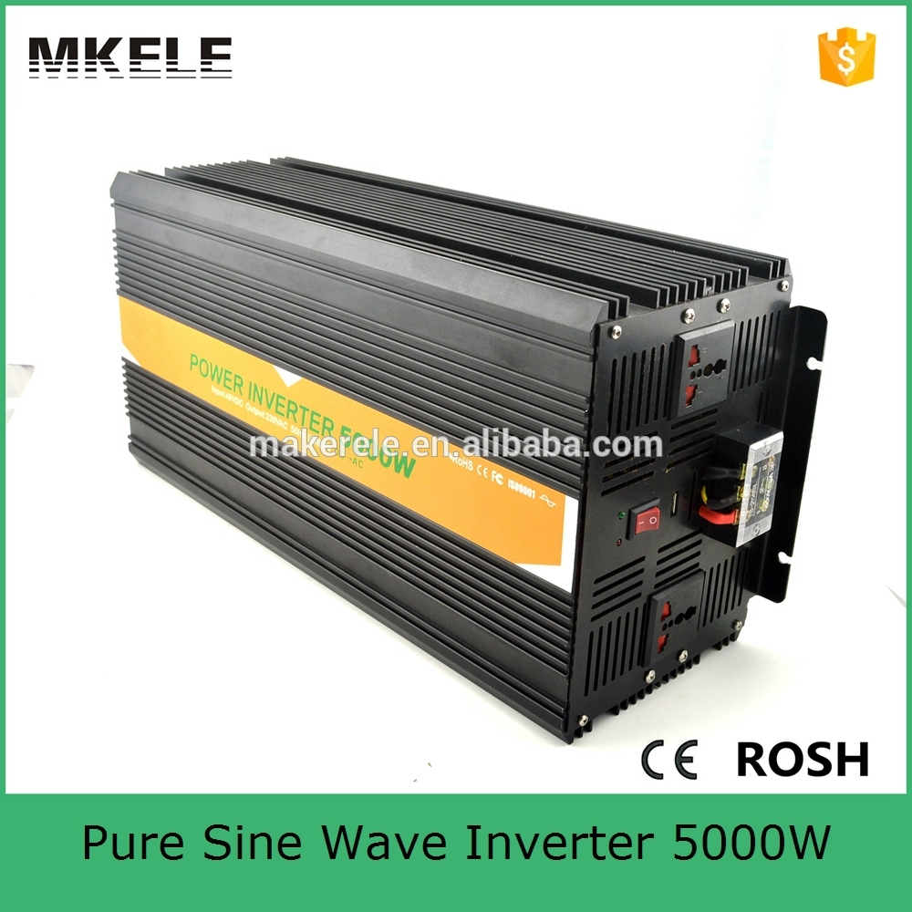 MKP5000-121B off grid 5000 watt inverter dc ac 110v 5k watt electric power inverter pure sine wave form with 12vdc input solar power on grid tie mini 300w inverter with mppt funciton dc 10 8 30v input to ac output no extra shipping fee