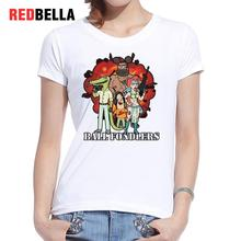 REDBELLA Ulzzang Print Women Tshirt Ball Fondlers Punk Rock Cotton Graphic Tees Funny Hipster Cartoon Rick Morty Kawaii Clothing