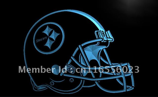 new product 7b666 d9d16 US $11.0  LA252 Pittsburgh Steelers Helmet Bar LED Neon Light Sign home  decor shop crafts-in Plaques & Signs from Home & Garden on Aliexpress.com    ...