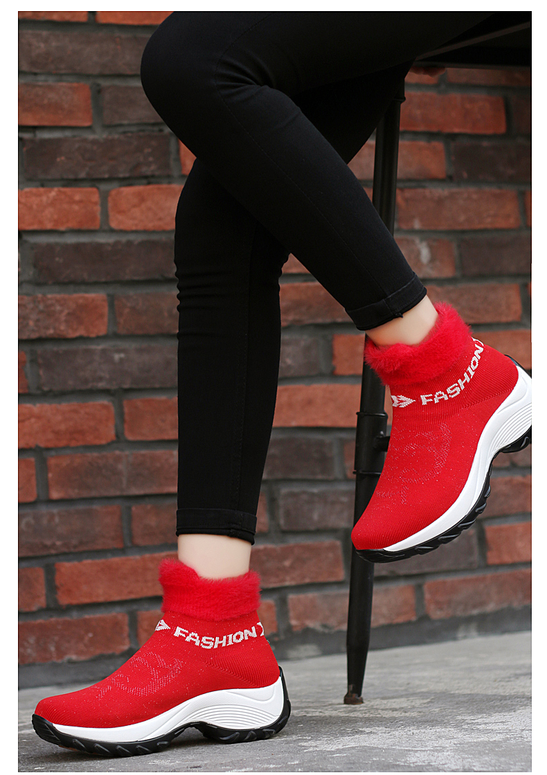 STS BRAND 2019 New Winter Ankle Boots Women Snow Boots Warm Plush Platform Sneakers Breathable Mesh Sneakers Travel Casual Shoes (16)