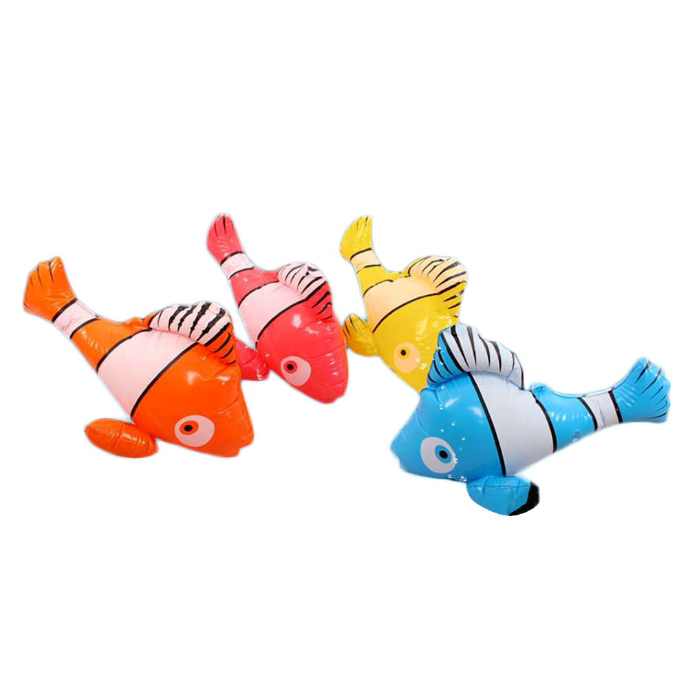 4 Colors Set Inflatable Fish Pool Float Inflated Baby Bath Toy