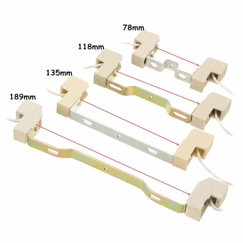 R7S лампа База гнездо патрон conveter разъем металлической ручкой для потока свет лампы 78/118/135/ 189 мм ...