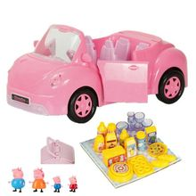 Peppa Pig Doll Fashion Sports Car Original Family Roles Action Figure Model Children Gifts fashion aircraft peppa pig doll toys family full roles action figure model children gifts