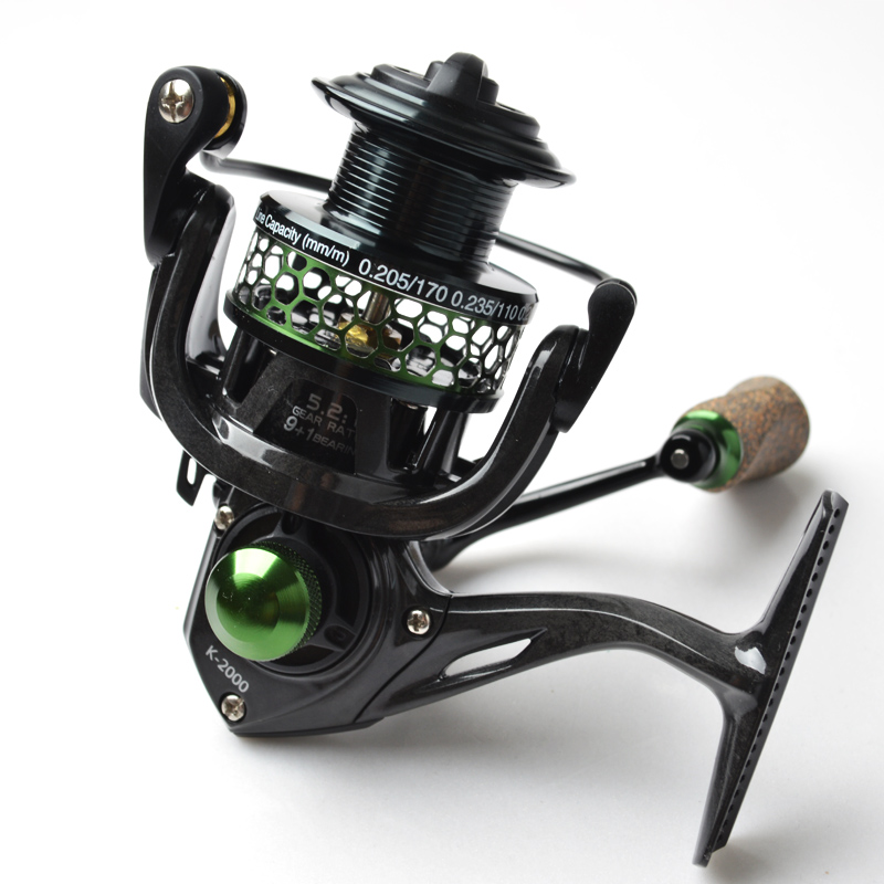ФОТО 2016 Brand ultra-light Sea Spinning Reels series 2000 Carbon Fiber 9+1BB Spinning Fishing Reel 5.2:1 Carbon Wheel tackle