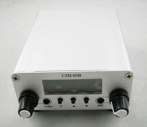 10pcs 0.5W CZH-05B pll 87-108mhz fm transmitter broadcast stereo mic + GP100 1/4 wave antenna + power supply KIT 0 5w 500mw czh 05b cze 05b fm transmitter kit silver 1 4 wave gp antenna power supply