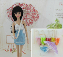20Pcs lot HOT SALE Fashionable Lace Umbrella For 11 30cm Girl Dolls Beautiful 1 6 Doll