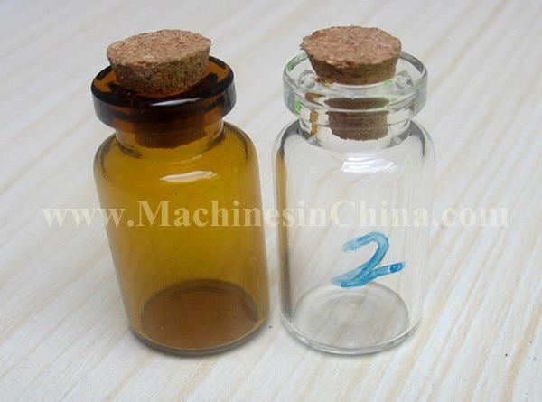 100pcs 2ml Glass Bottle with soft-cork stopper