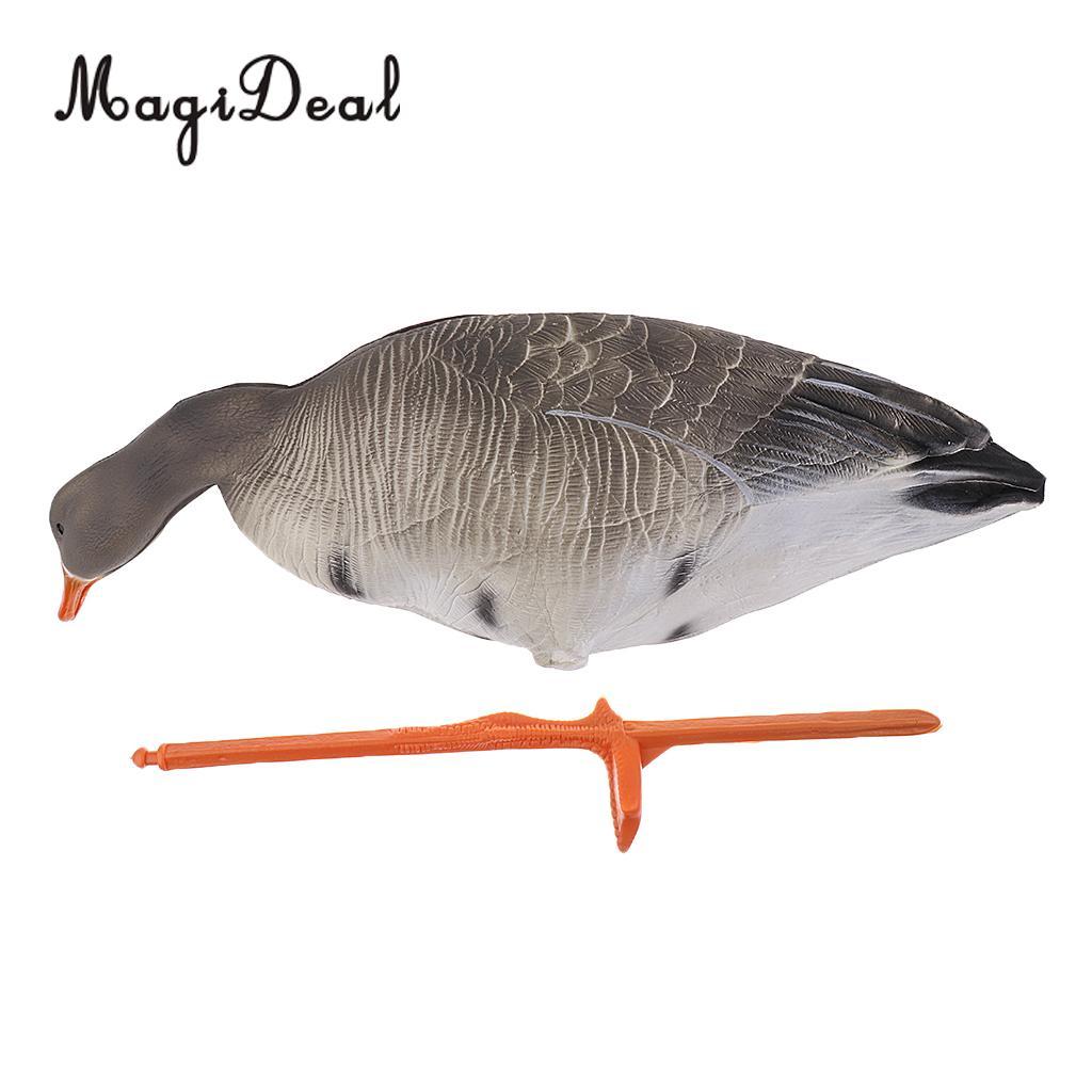 MagiDeal Lifelike Portable Full Body Goose Shooting Hunting Decoy Lawn Ornaments Garden Decors Hunter Greenhand Gear