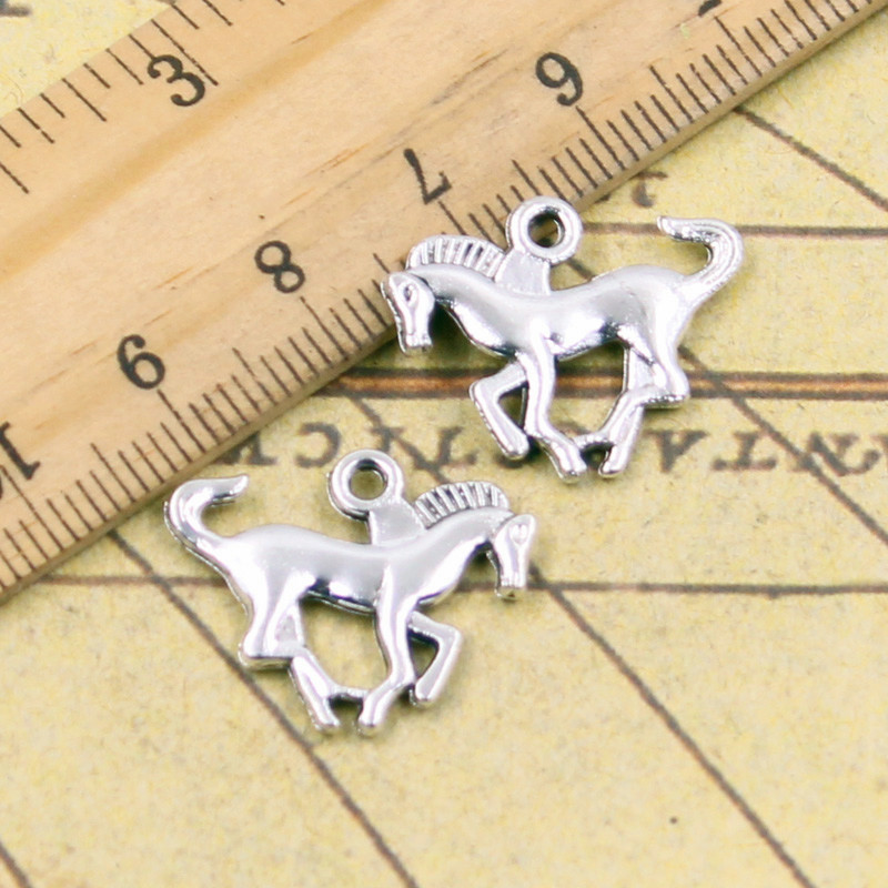 10pcs Charms running horse steed 17*22mm Tibetan Silver Plated Pendants Antique Jewelry Making DIY Handmade Craft