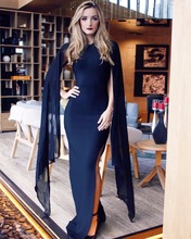 Batwing Sleeve High Split Sexy Long Bandage Gown Maxi Dress