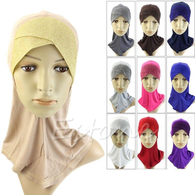 O123-Free shipping Under Scarf Hat Cap Bone Bonnet Muslim His