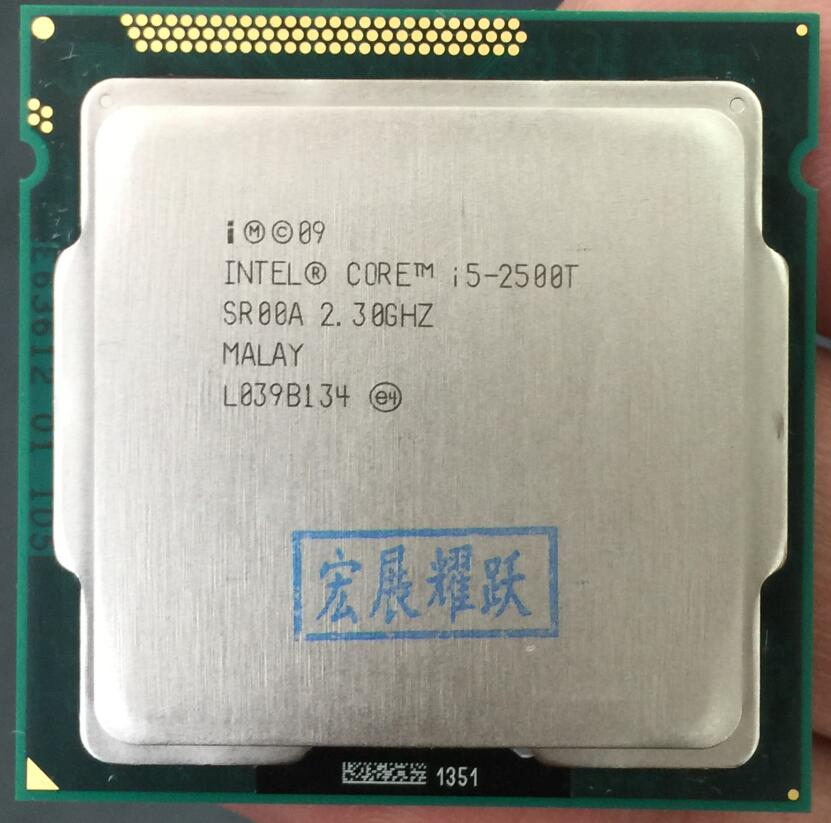 Processeur Intel Core i5-2500T i5 2500 T (Cache 6 M, 2.3 GHz) LGA1155 45 W ordinateur de bureau CPU