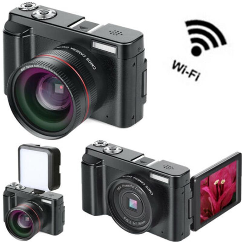 3 pouces LCD WIFI écran Flip caméra numérique caméscopes vidéo Vlog Full HD 1080p 24MP 16X Zoom caméra débutant