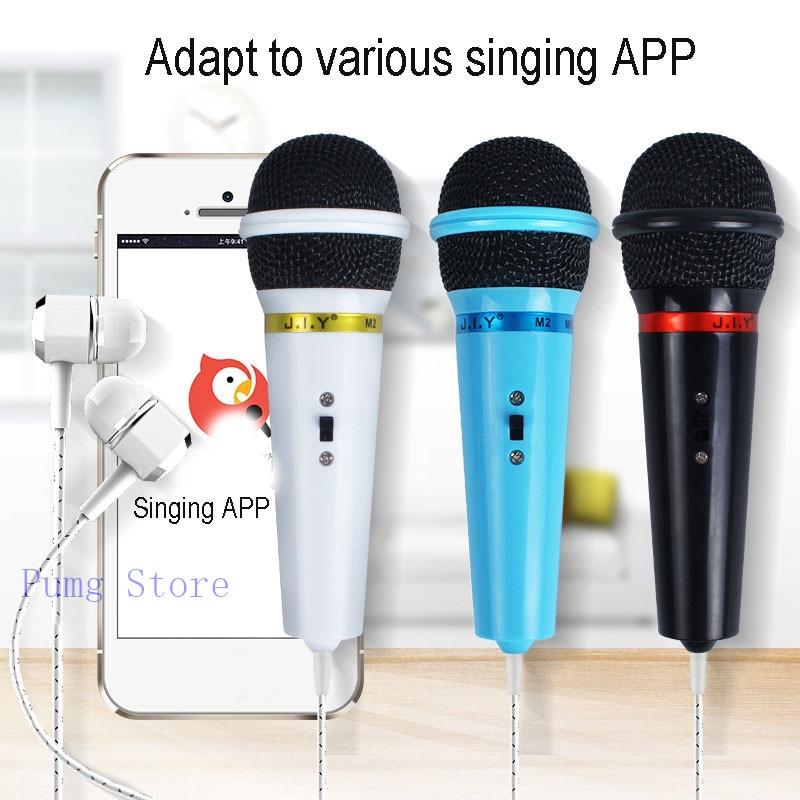 US $4 29 10% OFF|JIY Mini Wired Conderser headset karaoke Microphone High  fidelity recording professional Pretty Microphones for app karaoke mic-in