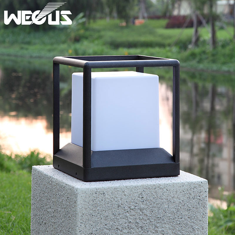 ip 65 a prova dwaterproof agua luz do jardim moderno aluminio pilar luz patio ao ar