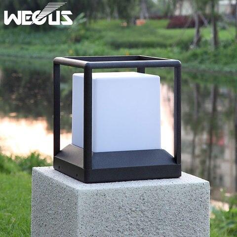 ip 65 a prova dwaterproof agua luz do jardim moderno aluminio pilar luz patio ao