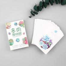 28 pcs/pack Succulent Plants Museum Mini Lomo Card Greeting Card Postcard Birthday Letter Envelope Gift Card Set Message Card