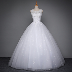 Image 3 - Fansmile 2020 Robe De Mariage Princess White Ball Gown Wedding Dresses Vestido De Noiva Plus Size Custom Wedding Gowns FSM 023F