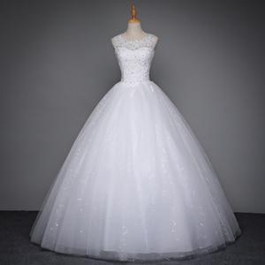 Image 3 - Fansmile 2020 Áo Dây De Mariage Công Chúa Trắng Bầu Áo Váy Đầm Vestido De Noiva Plus Kích Thước Tùy Chỉnh Áo Cưới FSM 023F