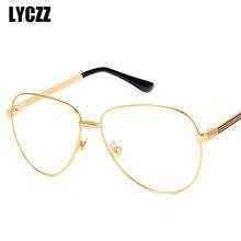 12990c972 LYCZZ موضة وصفة طبية نظارات للكبار خفيفة مرنة نظارات كبيرة الإطار الذكور  والإناث النظارات البصرية