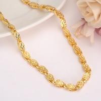 Gold filled big collana di spessore 6 MM Larghezza Etiope Collane per Le Donne/Ragazze Africana dubai india Monili Chain Arabo uomini regalo