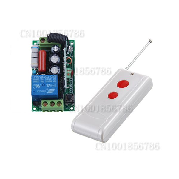 ac220v 1ch 10a 1000m long distance remote control light switch relay output radio receiver. Black Bedroom Furniture Sets. Home Design Ideas
