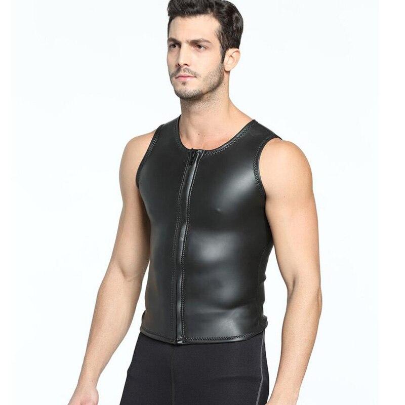 2e4cbdbe3165b Jersqons 2mm Neoprene Wetsuit Men Triathlon Smooth Skin Swimwear Rash Guard  Zipper Swimming Tops Surf Diving Vest Swimsuit-in Wetsuit from Sports ...