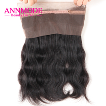 Annmode hair 360 Lace Frontal Closure Malaysian Body Wave Natural Hairline With Baby Hair Non-remy Human Hair 22.5*4*2