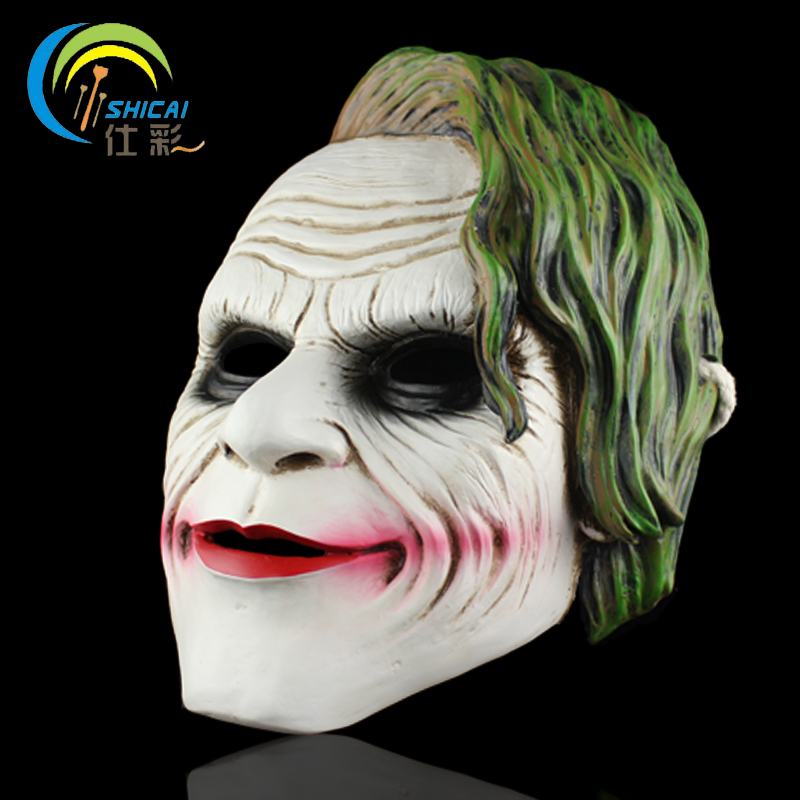 Mask Joker of Batman Dark Knight for Party Halloween Christmas Cosplay Resin Mask Adults Full Face Free Shipping