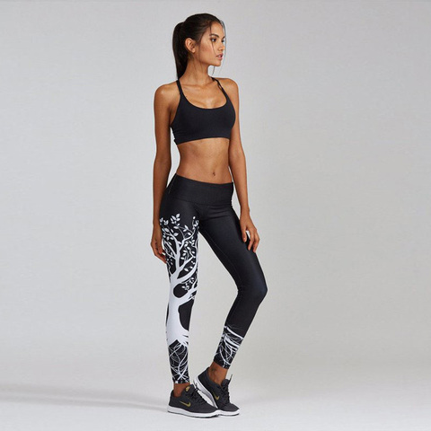Leggings Female Yoga Pants Yoga Leggings Printed Sport Pants Running Pants Gym Leggings Fitness Workout Leggings Sports Clothing Karachi