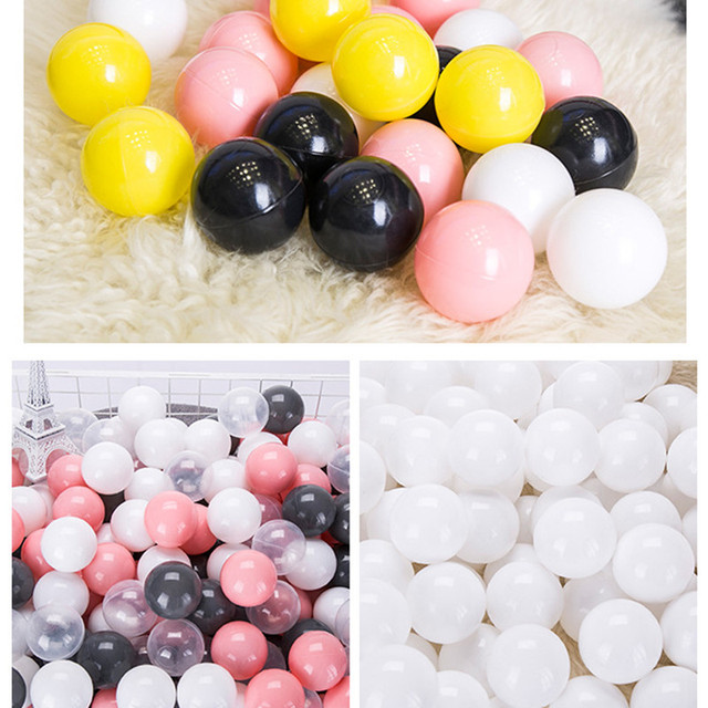 100 pcs/lot Eco-Friendly Colorful Ball Pits Soft Plastic Ocean Ball Water Pool Ocean Wave Ball Swim Toys For Children Kids Baby  2