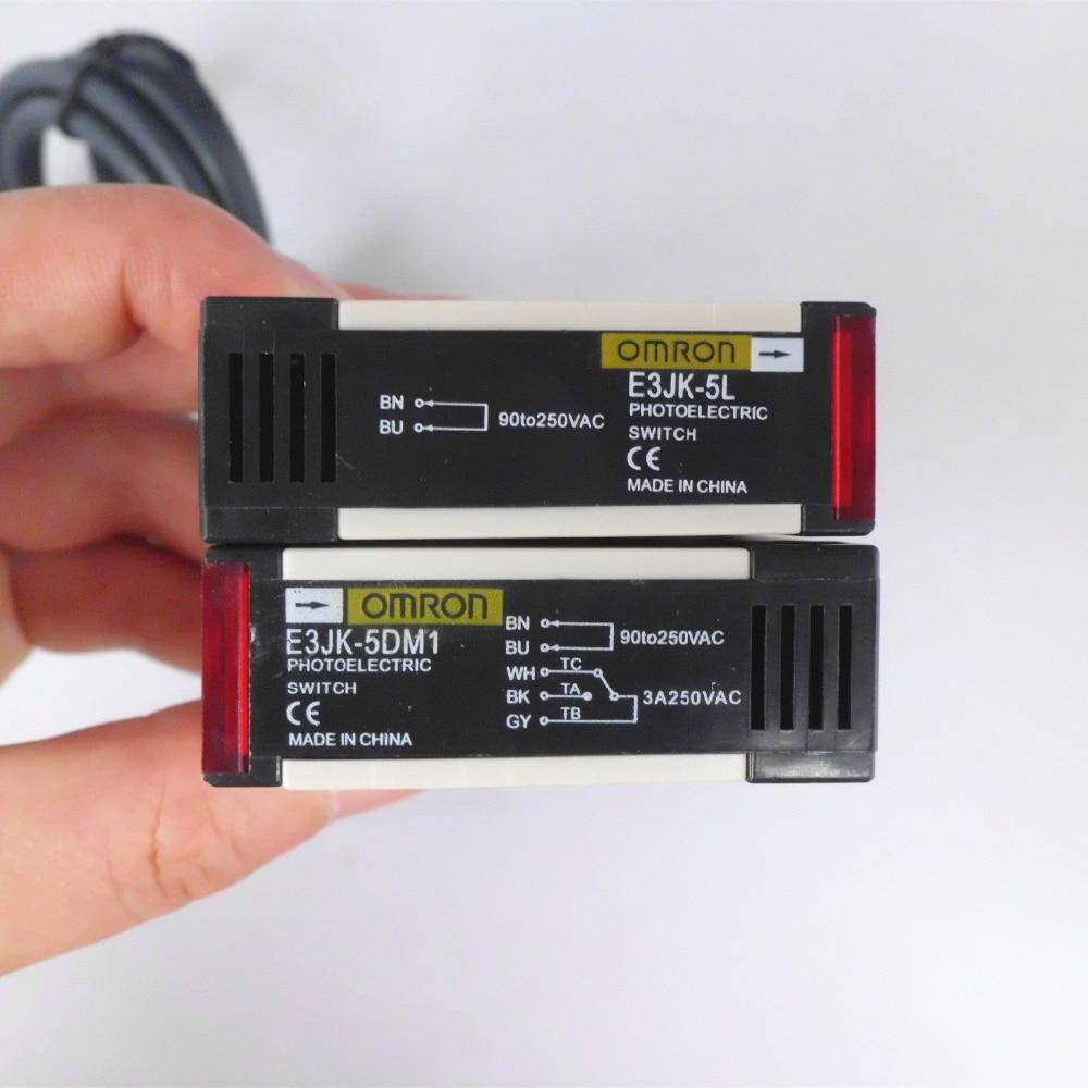 US $38.0 |3 Sets E3JK 5DM1 E3JK 5L Omron Beam Photoelectric Switch on