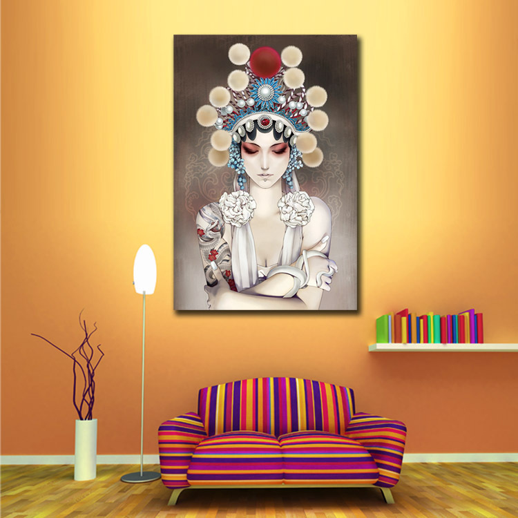 Cheapest Home Decor: Chinese Figure Peking Opera Face Wall Art Pictures Modern