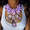 Dvacaman Marca 2016 Única Hecha A Mano de DIY Grande Colgante de Collar de Flor de La Manera Maxi Collar de la Declaración Gargantilla Collar de La Joyería O87
