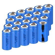 20 pcs SC battery rechargeable SC ni-cd subc battery 1.2v SC power bank 2200mah SC accumulator